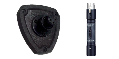 Shockmount plate and XLR connector for microphones