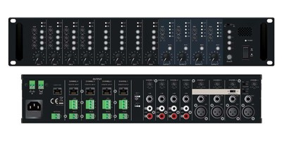 Matrix mixer with 8 inputs and 4 outputs PM-804